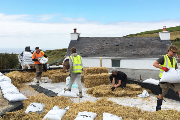 installing a haybased green roof in Scotland