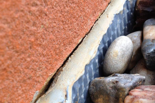 visual inspection of roof for cracks and other problems
