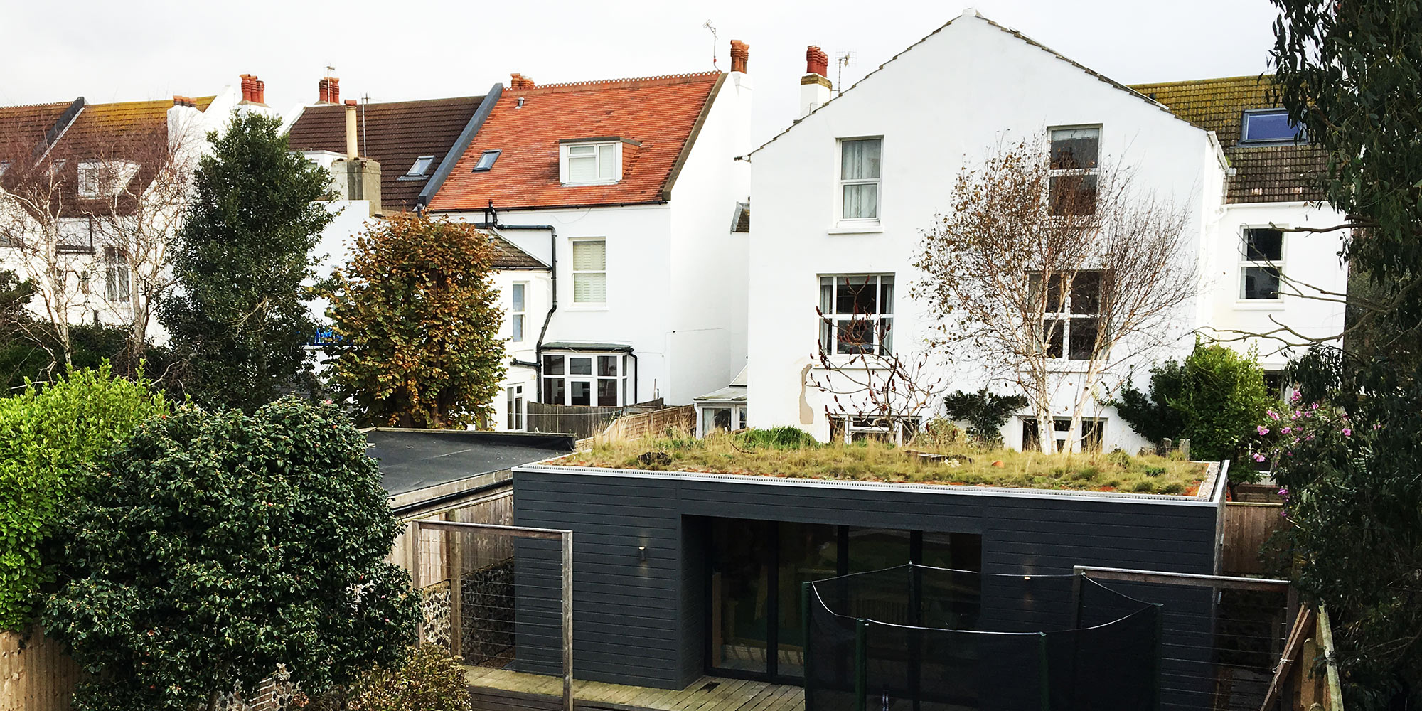 Green Roofs In Winter For Homes Pitched Roofs And Flat